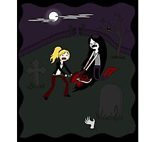 Buffy vs. Marceline Photographic Print