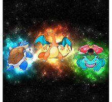 Indigo starter pokemon FINAL evolutions  by mehimsam