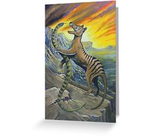 Tigers, Dancing on the Edge Greeting Card