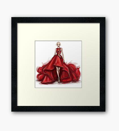 red dress Framed Print