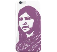 Malala Yousafzai - A Picture of Courage (Purple) iPhone Case/Skin