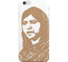 Malala Yousafzai - A Picture of Courage (Brown) iPhone Case/Skin