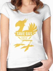 Save Gas Ride a Chocobo Women's Fitted Scoop T-Shirt