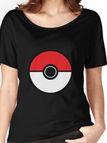 Poke ball Pokemon Style Graphic Women's Relaxed Fit T-Shirt