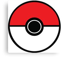 Poke ball Pokemon Style Graphic Canvas Print