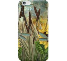 DRAGONFLIES AND SUNFLOWERS iPhone Case/Skin