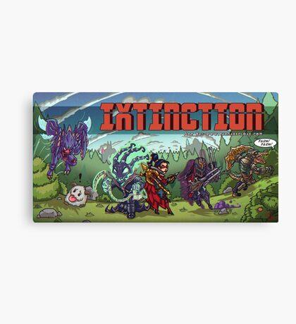 IXTINCTION Retro Splash Canvas Print
