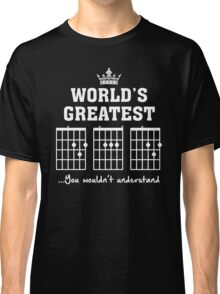 F chord DAD Funny Guitar Tee- Unique Father's Day Gift Classic T-Shirt