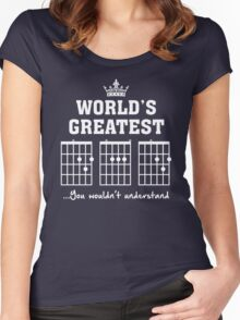 F chord DAD Funny Guitar Tee- Unique Father's Day Gift Women's Fitted Scoop T-Shirt