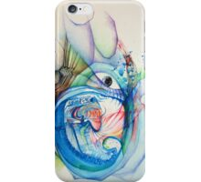 """""""Openness"""" Original Abstract Painting Modern Contemporary Fine Art iPhone Case/Skin"""