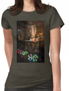 Candlelit Altar Womens Fitted T-Shirt