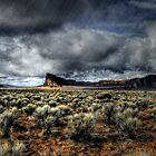 Rain and Sunshine ~ Fort Rock ~ by Charles & Patricia   Harkins ~ Picture Oregon