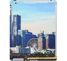 Chicago IL - Chicago Skyline and Navy Pier iPad Case/Skin