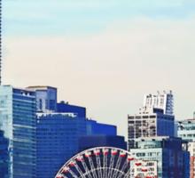 Chicago IL - Chicago Skyline and Navy Pier Sticker