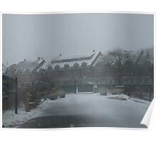 weekapaug inn - snow storm Poster