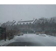 weekapaug inn - snow storm Photographic Print