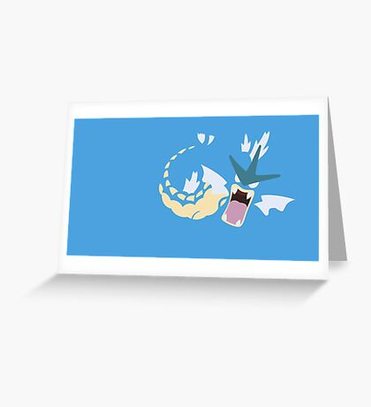Minimalist Pokemon Gyarados Greeting Card