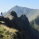 Snowdonia: Walkers on Crib Goch by Rob Parsons