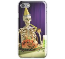 Funny Halloween party skeleton iPhone Case/Skin
