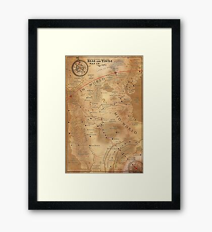 The Dark Tower - Mid-World Map Framed Print