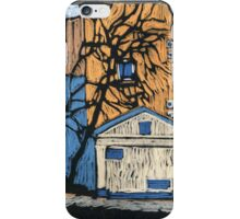 Moscow yard in winter iPhone Case/Skin