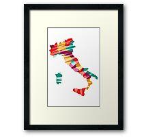 Geometric Italy Framed Print