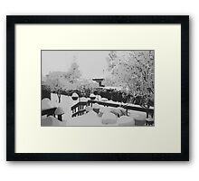 Winter In The Garden  Framed Print