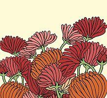 The Retro Garden Flowers by haidishabrina