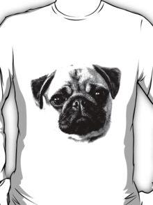 Happy Dog Engraving T-Shirt