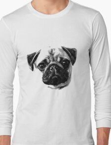Happy Dog Engraving Long Sleeve T-Shirt