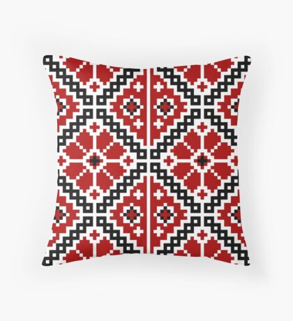 Ukrainian embroidery Throw Pillow