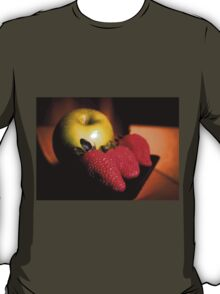 A green apple and three strawberries T-Shirt