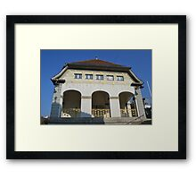 Jugendstil (art nouveau) bathhouse in Bad Nauheim, Germany Framed Print