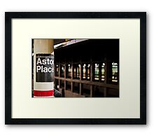 One More Stop Framed Print