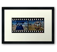 Sculptures By The Sea 2010- Blue/Brown Framed Print