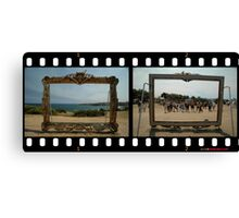 Framed - Two Views,Sculptures By The Sea 2011 Canvas Print