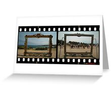 Framed - Two Views,Sculptures By The Sea 2011 Greeting Card
