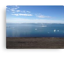 Arctic Waters from Barrow Canvas Print