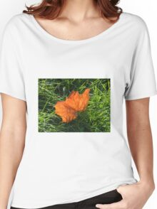 Backlit Autumn Leaf Women's Relaxed Fit T-Shirt