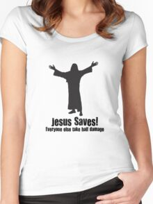 Jesus saves DnD Women's Fitted Scoop T-Shirt