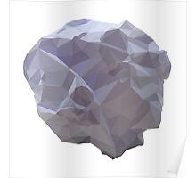 Polygon Paper Meteorite Poster
