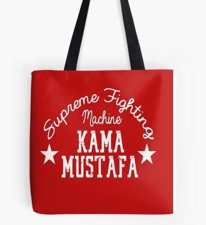 """""""Supreme Fighting Machine"""" Kama Mustafa Tote Bag"""