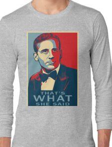 michael scott Long Sleeve T-Shirt