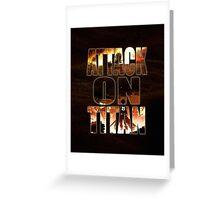 Attack On Titan - Shingeki no kyojin - Greeting Card