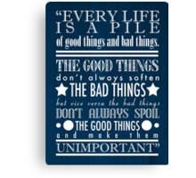 Doctor Who Quote Poster Canvas Print