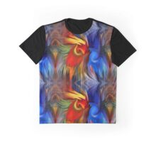 Abstract Red Blue Yellow Green Design Graphic T-Shirt