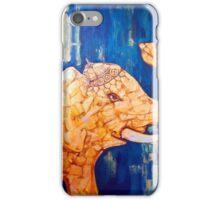 gold elephant iPhone Case/Skin