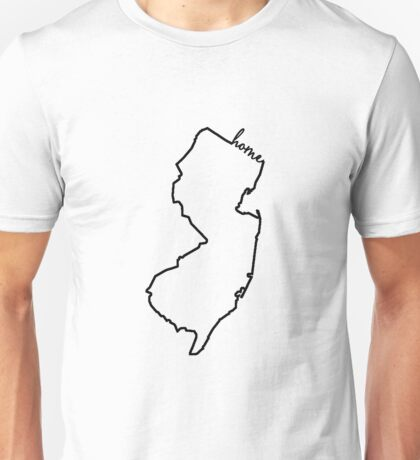 New Jersey Home Outline Unisex T-Shirt