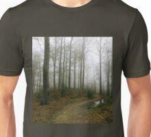 Forest in the fog. Freshwater swamp forest. Beskids, Poland Unisex T-Shirt