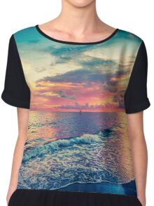 Clouds And Colors Chiffon Top